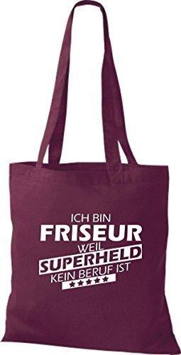 Tote Bag Shirtstown Sono Un Parrucchiere Perché Il Supereroe Non È Una Professione Bordeaux