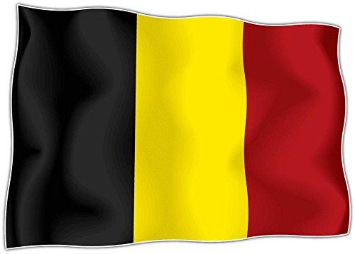 Aufkleber sticker belgischer Flagge Belgien Motorrad, Auto ahesif vinyl Skin