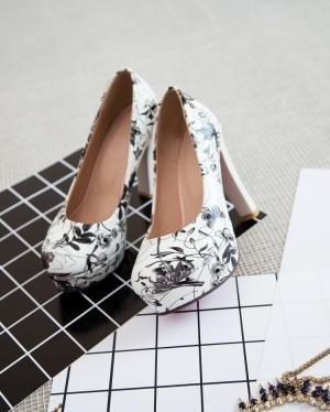 hexiaji 22cm-24.5ccm chaussure femme chaussure haut talon chaussure noir rose blanc Gris