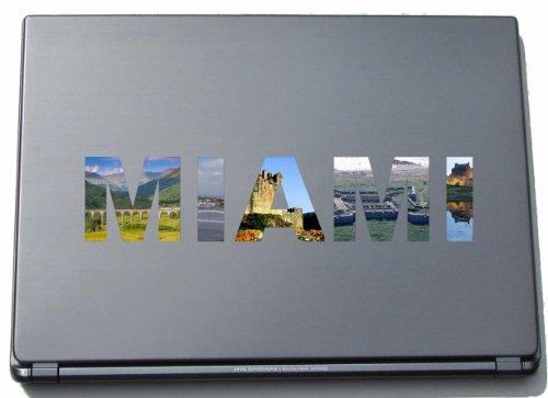 Miami Notebook Skin (Miami Laptop Aufkleber Laptop Skin 290 mm mit Sehenswürdigkeiten)