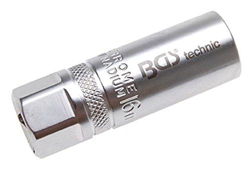 """BGS 2401 Zündkerzen-Einsatz 16mm Antrieb Innenvierkant 12,5 mm (1/2\"""") mit Haltefeder"""