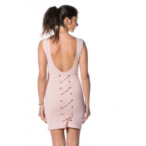 Princesse boutique - Robe ROSE dos à oeillets Rose