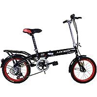 LETFF Bicicleta Plegable para Adultos 20 Pulgadas Bicicleta de Estudiante de absorción de Choque de Velocidad