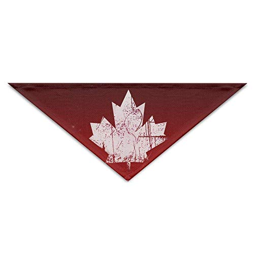 Sdltkhy Canada Flag Maple Leaf Dog Bandanas Scarves Triangle Bibs Scarfs Novelty Basic Dogs Neckerchief Cat Collars Pet Costume Accessory Kerchief for Large&Medium&Small Puppy