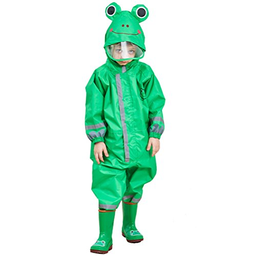 CADong Childrens Waterproof Rainsuit, All in One Dry Suit for Outdoor Play, Ideal Outerwear for Boys and Girls