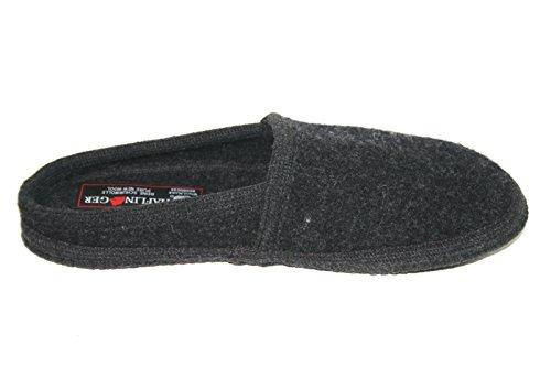 Haflinger Walktoffel Bunte Vielfalt 617001 24 Unisex Erwachsene Hausschuhe Pantoffeln Schwarz (schwarz 24)