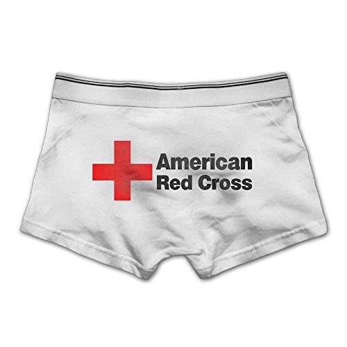 2725379264ddd2 Men's Red Cross Underwear Fashion Boxer Briefs Cotton Stretch Low Rise  Trunks Medium