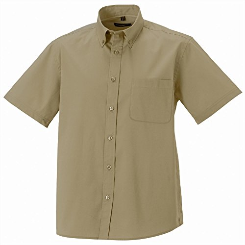 Russell Collection Short Sleeve Classic Twill Shirt Black