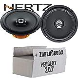 Hertz DCX 165.3-16cm Koax Lautsprecher - Einbauset für Peugeot 207 - JUST SOUND best choice for caraudio