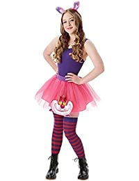 Ladies or Teen Cheshire Cat Alice in Wonderland Tutu Book Day Week Fancy Dress Costume Outfit Kit