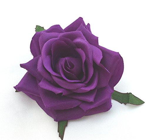cadbury-purple-rose-artificial-hair-flower-clip