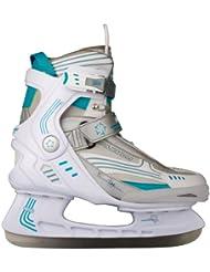 Nijdam Semi Softboot - Patines para hockey sobre hielo blanco blanco Talla:43
