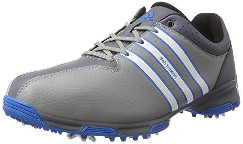 adidas Men's 360 Traxion WD Golf Shoes, Grey (Light Onix/White/Shock Blue), 7.5 UK 41 1/3 EU