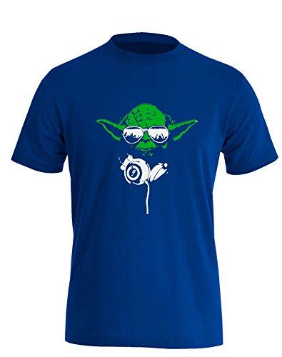 Yoda DJ - Herren T Shirt Royal / Bunt