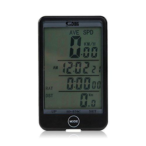 TOMOUNT Bici Cronometro Wireless Contachilometri Digitale Touchscreen Retroilluminato