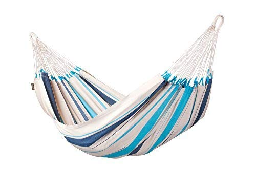 LA SIESTA Caribeña Aqua Blue - Amaca classica singola in cotone