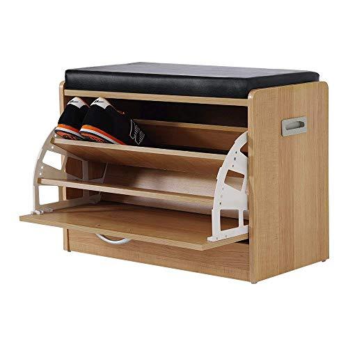 chuck & blair Schuhbank, Holz, Aufbewahrungsbox, 60 x 30 x 43 cm