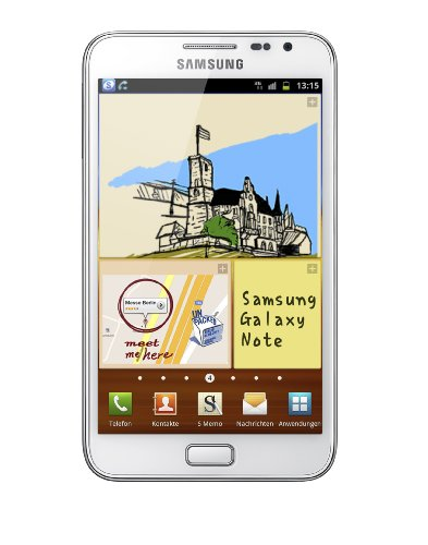 Samsung Mobile Samsung Galaxy Note N7000 Smartphone (13.5 cm (5.3 Zoll) HD Super AMOLED-Touchscreen, 8 MP Kamera, Android 2.3 OS) ceramic-white