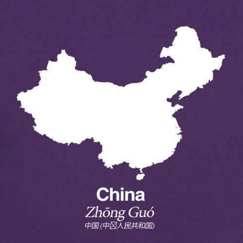 China / Volksrepublik China Silhouette - Herren T-Shirt - 13 Farben Lila