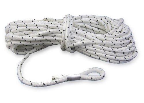 20 Meter Ankerleine 10 mm Polyester mit Nylonkausche