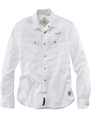 ROADSIGN australia Langarm Hemd Bombala Weiß