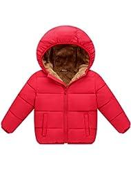 Moresave Niños Niñas Abrigo Parka de Invierno Sudadera con capucha de manga larga Infantil Acolchado Abajo Chaqueta Prendas de abrigo