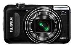 Fujifilm FinePix T200 14MP Point and Shoot Camera (Black) with 10x Optical Zoom, Memory Card and Camera Case