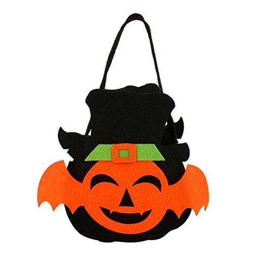 Halloween Süßigkeiten Taschen, FNKDOR Fledermaus-Stil Beutel Geschenktasche Halter Bag (Schwarz)