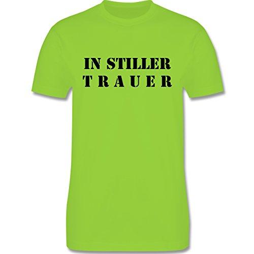 JGA Junggesellenabschied - In stiller Trauer - Herren Premium T-Shirt Hellgrün