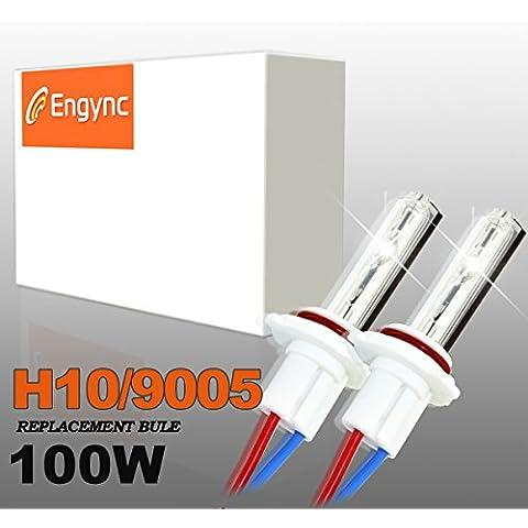 Engync® 100W de alta potencia 9005 bombillas de repuesto (HB3) de xenón HID | Alto / Bajo la luz blanca con un color azul tinte
