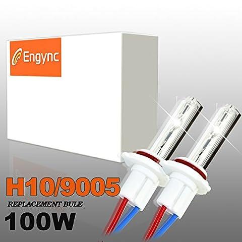 Engync® 2x H10 (9145) Lampes Ampoules Xénon HID de Remplacement 100W 12V Couleur 5000K pour Voiture