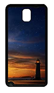 Samsung Note 3 Case Dusk Lighthouse TPU Custom Samsung Note 3 Case Cover Black