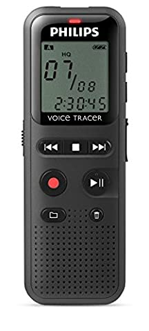 Philips DVT1150 Digital Voice Recorder, 4GB, PC connected, black