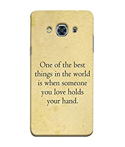 PrintVisa Designer Back Case Cover for Samsung Galaxy J3(2017) (Beloved Sweet Heart Holding Hands)