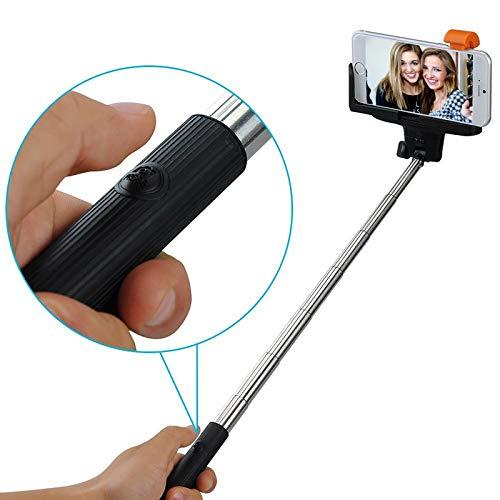 Mobilefox® Selfie Stick telescopico Bluetooth/wireless per IOS/Android, Samsung Galaxy S6/S6edge/S5/S4/S3/A7/A5/A3/Mini/Alpha, ecc. Apple iPhone 6Plus/6/5S/5C/5/4S/ 4, Sony Xperia Z4/Z3/Z2/Z3/Compact ecc. HTC One (M7) (M8) (M9)/Mini/Desire 500/820/620ecc., LG G3/G3S/G2/G2Mini/ecc. Motorola Moto G/E/X ecc., Huawei Ascend ecc.