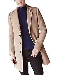 Manteau Homme Trench-Coat Élégant Blouson Parka Veste Slim Fit Casual Coat  Manteaux Décontracté a5704fb3ca5f