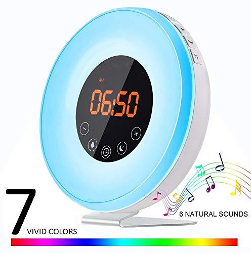Sunrise Wecker, Flyproshop Wecker Radio Weckfunktion Wecker USB Laute LED Uhr Touch Control Snooze Funktion für Kinder Mädchen und schwere Schläfer