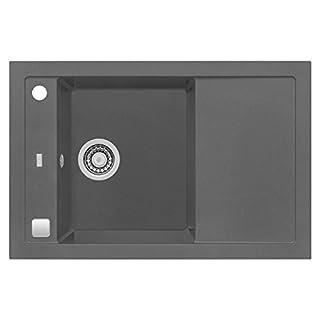 ALVEUS Einbauspüle FORMIC 30   Granital Plus steel   76 x 50 cm   universal   1 Stück