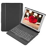 VBESTLIFE Ultraleichte Tragbare Drahtlose Bluetooth 3.0 Tastatur,Wasserdichte Externe Tastatur für iPad 9.7(Schwarz)
