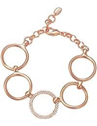 ESPRIT Glamour Damen-Armreif ES-PERIBESS GOLD teilvergoldet Zirkonia transparent 20 cm - ESBR01858B180
