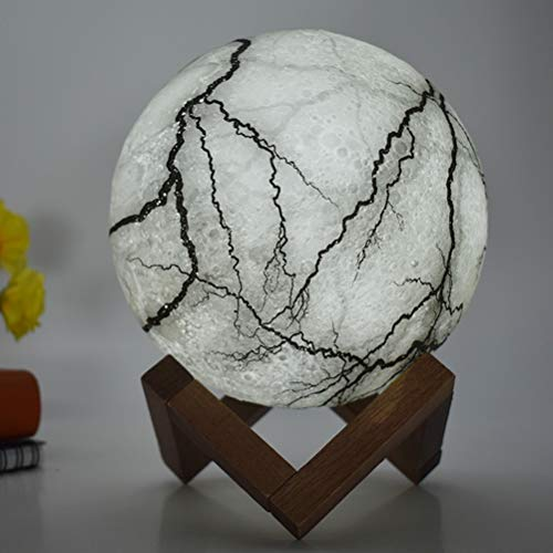 Mond Lampe Nachtlampe 3D,stimmungslichter Mond Lampe Mondlicht Durchmesser Mond Nachtlicht Lampe 3 Farbe Wählbar Schlafzimmer Dekor USB Lade Stimmung Licht für Schlafzimmer Cafe pat pat, 15cm -