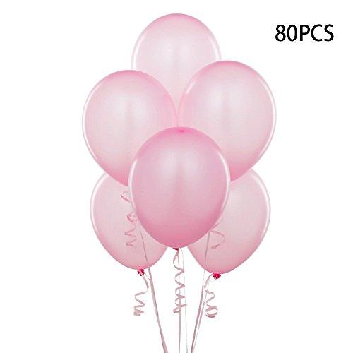Bunte Perle Latex Ballon Feier Party Hochzeit Geburtstag ca. 80 Stück (rosa) (Red Letter-ballons)