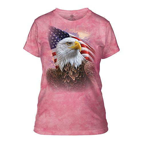 The Mountain Damen Independence Eagle T-Shirt, Rose, Groß - Eagle Damen Rosa T-shirt