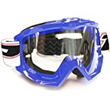 Progrip-Gafas de Motocross, Azul, Talla Única
