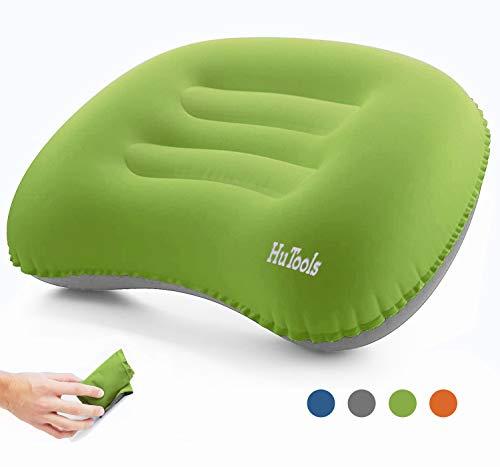 Hutools cuscino gonfiabile, cuscino gonfiabile da viaggio, cuscino gonfiabile mare per un sostegno lombare e al collo in campeggio o in viaggio, cuscini gonfiabili da viaggio