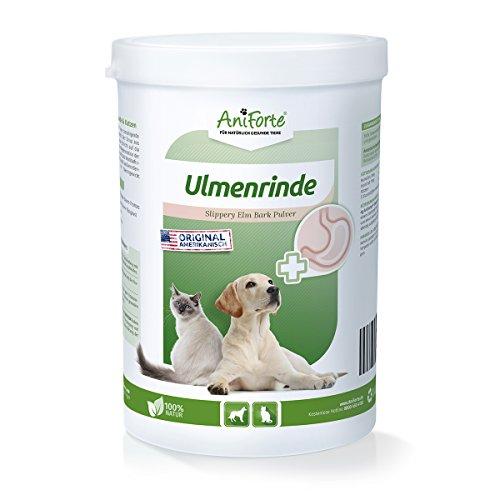 AniForte amerikanische Ulmenrinde Pulver 250g Slippery Elm Bark Pulver - Naturprodukt für Hunde und Katzen, Wohlbefinden Magen-Darm-Trakt, Unterstützung Darmflora, Vitamin Versorgung, Natur Pur