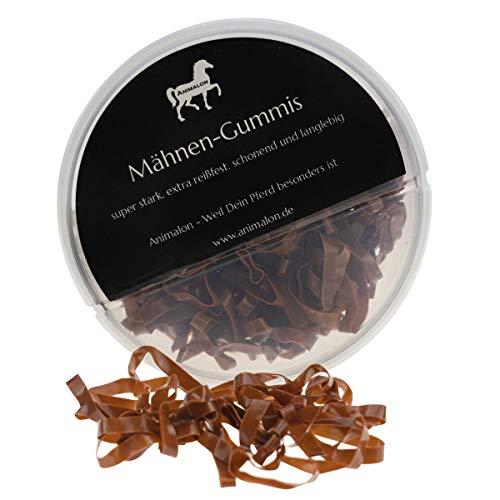Animalon Gomas para Crin Silicona para Caballos de peluquería, Trenzas Suaves con Gomas Resistentes a la Rotura, Accesorios Ideales para Caballos