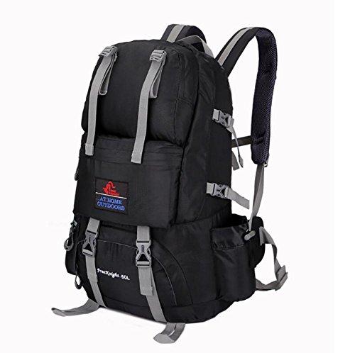 Wanderrucksack 50L Wasserdichtes Sporttasche Big Outdoor-Kapazität Taschen Bergsteigen Jagd Travel Rucksäcke 4