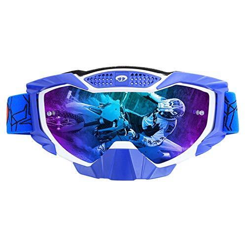 Sport Brille Herren Motorradfahrer Ausgestattet Mit Off Road Brillen Skibrillen Sand Schutzbrillen Outdoor Reitbrillen White Blue Multicolor Damen Herren