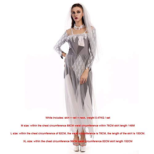 SPFAZJ Halloween Ghost Bride Zombie Kostüm Kostüm Party Cosplay Kostüm Vampir ()
